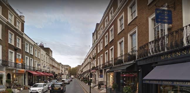 Beauchamp Place, London. Credit: Google Maps