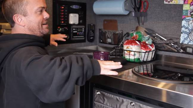 A kitchen fit for a king. Credit: YouTube/Van Life