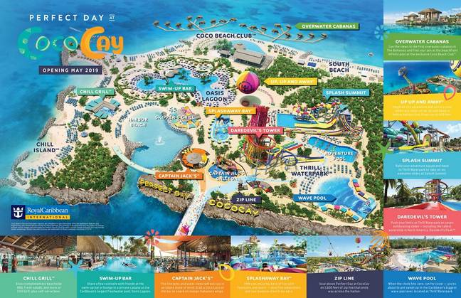 A map of the island. Credit: Royal Caribbean