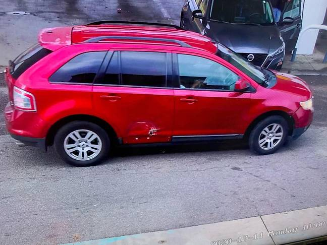 The vehicle the suspects were spotted in. Credit: Facebook/Southaven Police Department