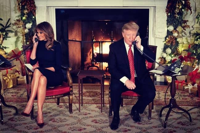 Donald and Melania Trump. Credit: Twitter