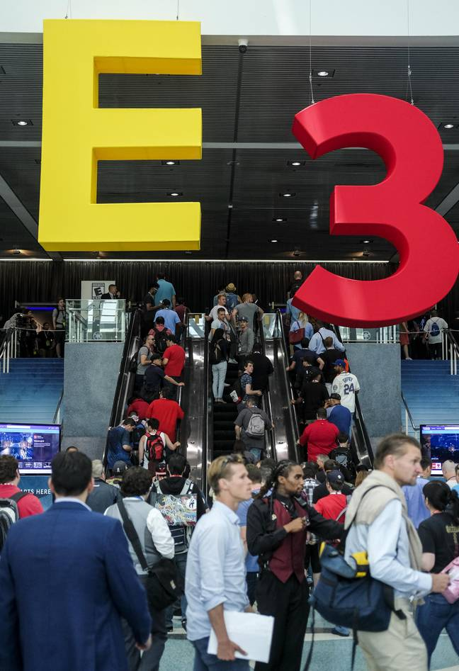 Last year's E3 conference. Credit: PA