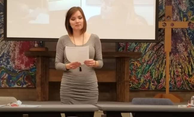 Nikole when she was a pastor. Credit: YouTube/Nikole Mitchell