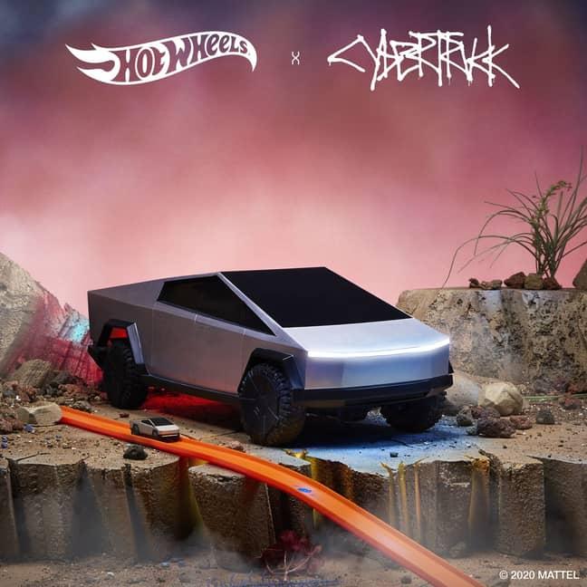 You can now buy a Hot Wheels Cybertruck model car. Credit: Mattel