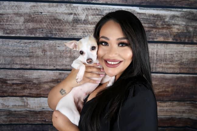 Maritza Rubalcava with her dog Coco. Credit: Mercury Press