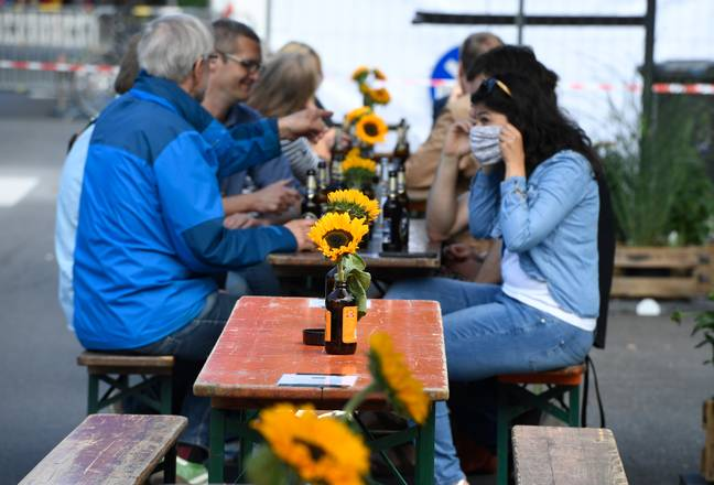 People in Greater Manchester, East Lancashire and parts of Yorkshire can still meet in a beer garden. Credit: PA