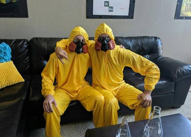 You can even don a hazmat suit.  Credit: Airbnb