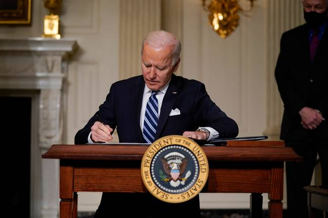 Biden has signed a number of executive orders since taking office. Credit: PA