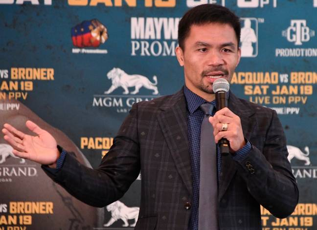 Manny Pacquiao says he's 'not afraid to die' serving his country during the coronavirus pandemic. Credit: PA