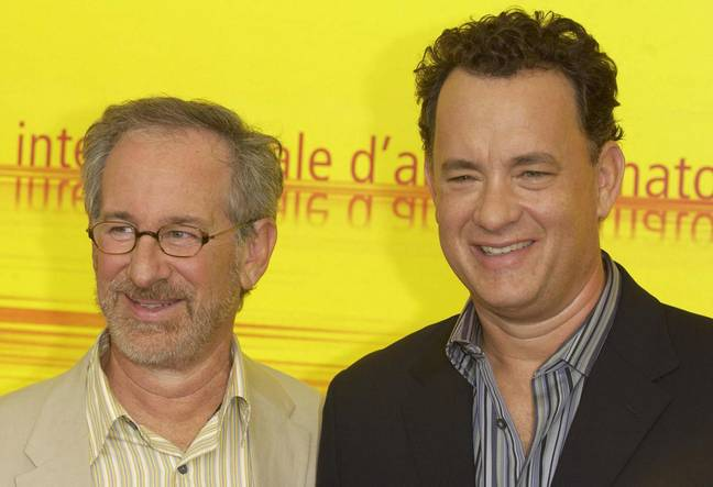 Spielberg and Hanks - they go together like wine and cheese (you can decide which is which). Credit: PA