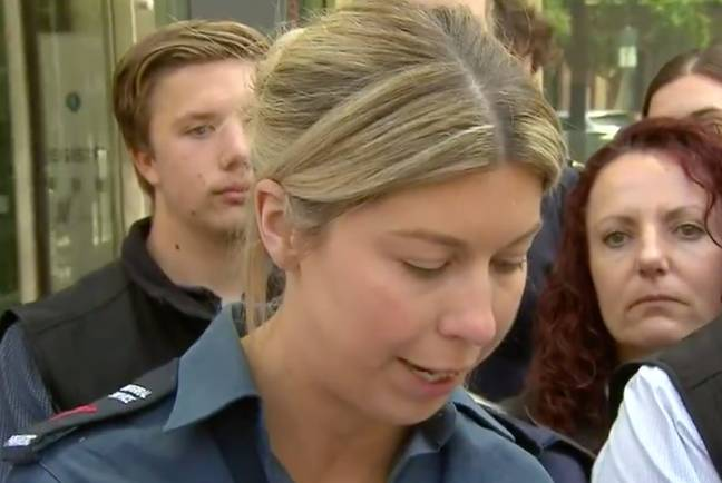 Haberfield's victim Monica. Credit: Channel 9