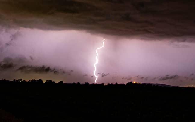 Stock image of lightning. Credit: PA