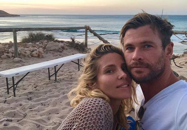 Chris with wife Elsa Pataky. Credit: Instagram/Elsa Pataky