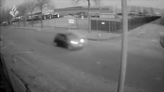 He was driving what is believed to be a black Toyota Aygo. Credit: CEN/Politie Landelijke Eenheid