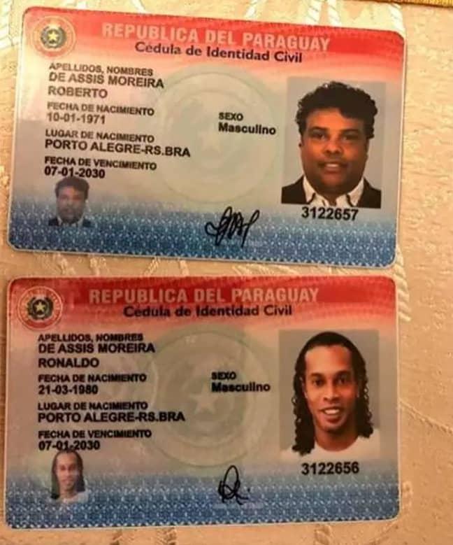 The passports Ronaldinho was arrested for. Credit: Facebook/Ministerio Público - Fiscalía General de la República del Paraguay