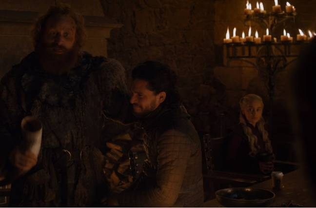 Viewers noticed the out of place beverage at the feast. Credit: HBO