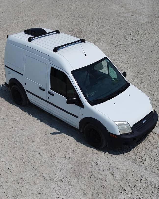The van that the pair travelled in. Credit: Instagram/@gabspetito