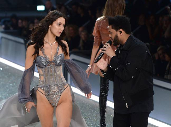 Bella Hadid and The Weeknd at the Victoria's Secret Fashion Show 2016 ' Credit: PA
