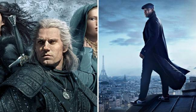 The Witcher and Lupin.  (Credit: Netflix)