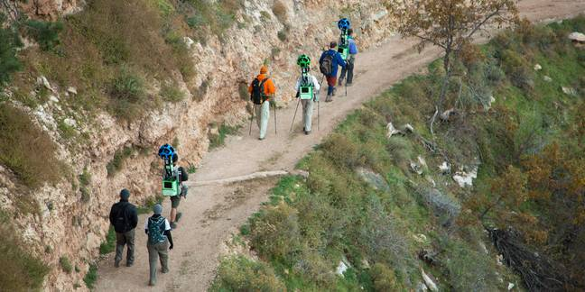 Google Trekkers in the Grand Canyon (Credit: Google)