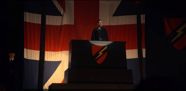 The plan to kill Mosley at the fascist rally went horribly wrong. Credit: BBC
