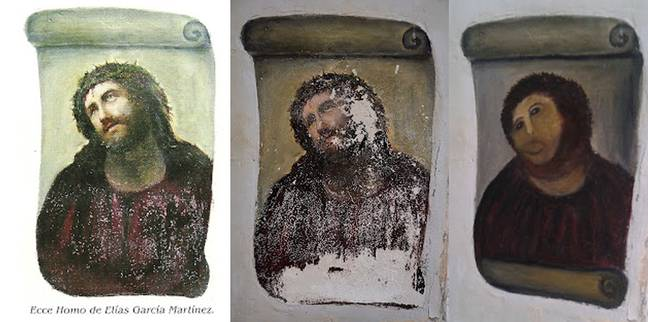 'Monkey Christ' in all its glory. Credit: PA