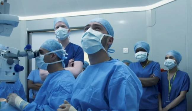 It's the first time the stem cell treatment has been performed on the NHS. Credit: BBC