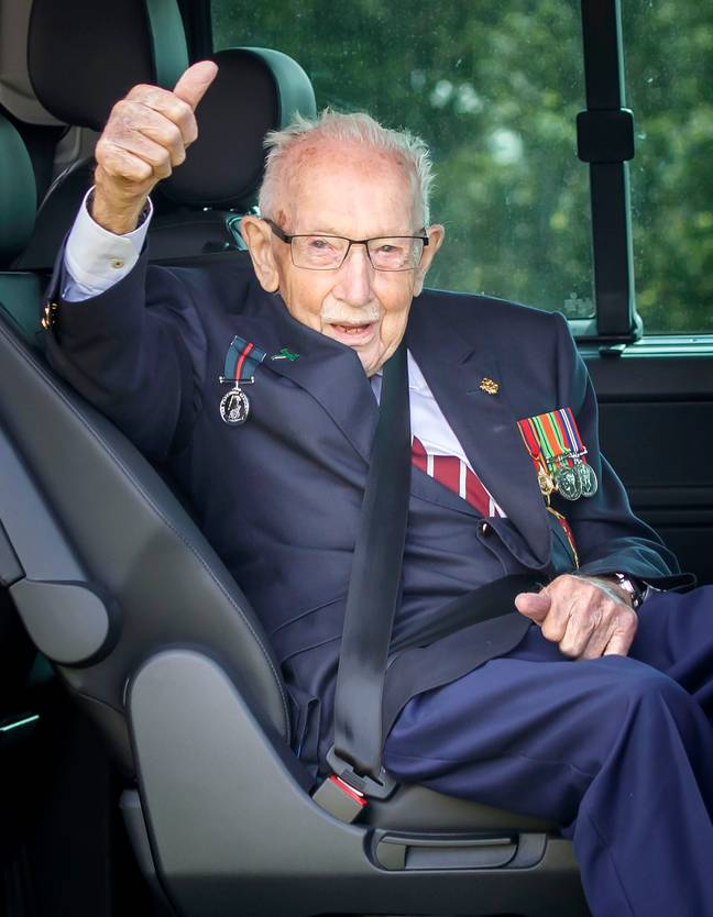 Captain Sir Tom Moore joked that he would like to play James Bond. Credit: PA