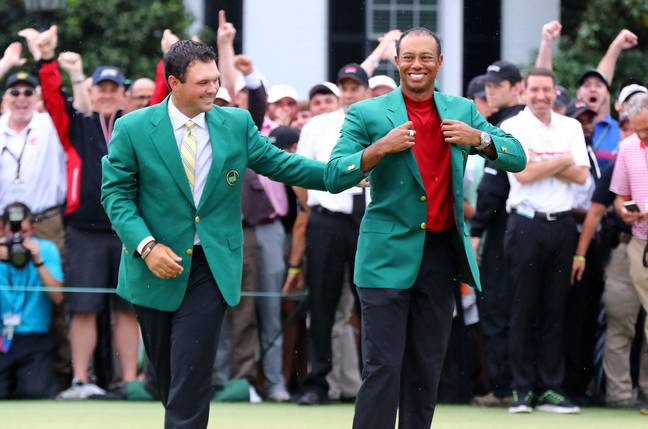 Tiger Woods secured his fifth green jacket... and $1.2 million for a mystery punter. Credit: PA