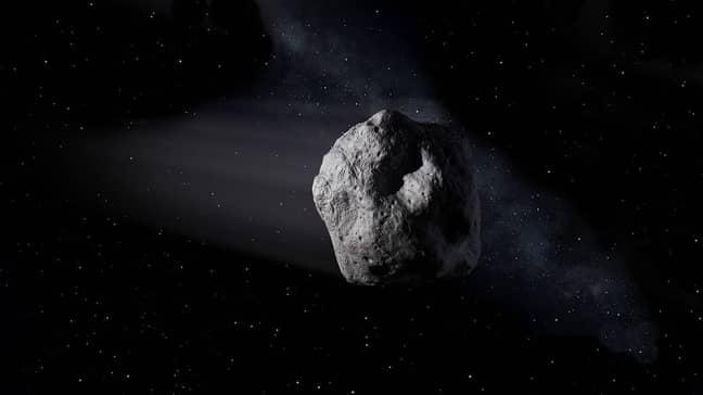 Cómo se vería normalmente un asteroide.  Crédito: NASA