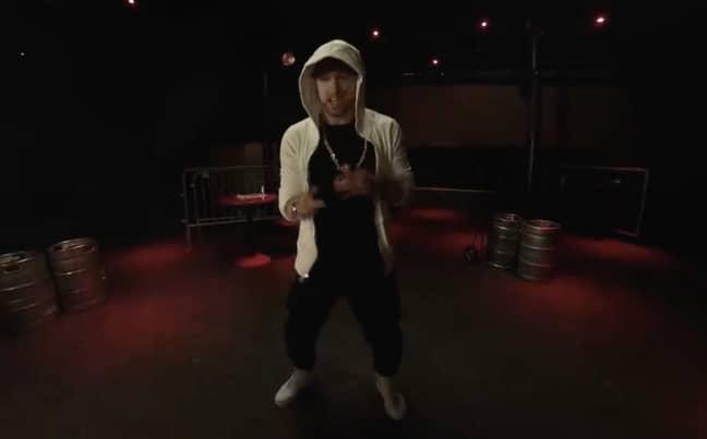 Eminem in action Credit: Eminem/Twitter