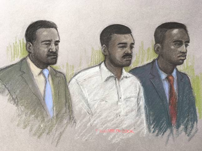 The three men accused of killing Harry Uzoka. Credit: PA