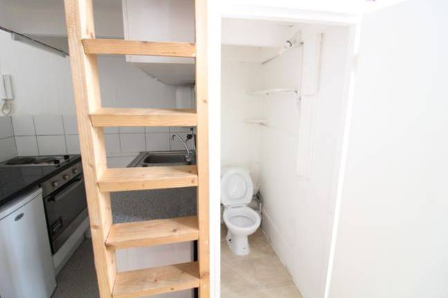 Where's the loo? Oh! There she is! Credit: Zoopla