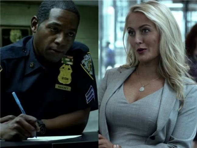 Royce Johnson in The Punisher and Amy Rutberg in Daredevil. Credit: Netflix/Marvel