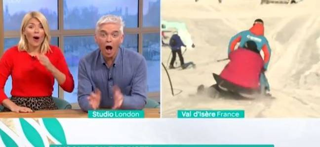 Phil and Holly were in hysterics as the segment went wrong. Credit: ITV/This Morning