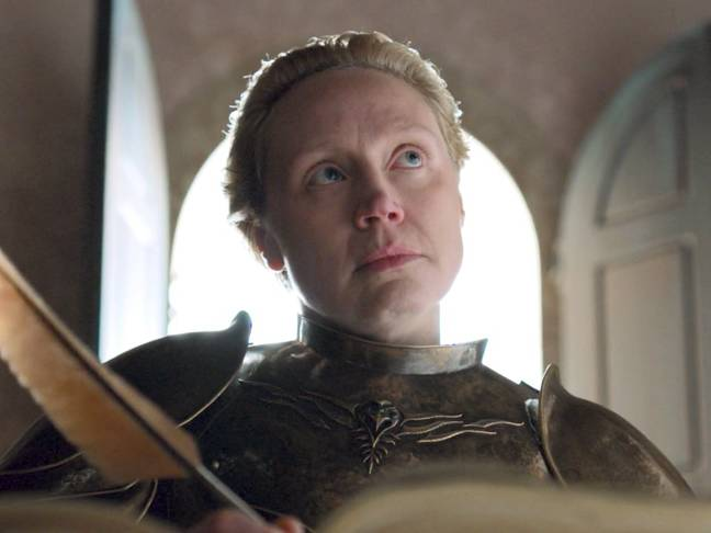 Brienne writing in the White Book. Credit: HBO