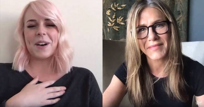 Jennifer Aniston paid tribute to a nurse who tested positive for Covid-19 in the line of duty. Credit: Jimmy Kimmel Live!