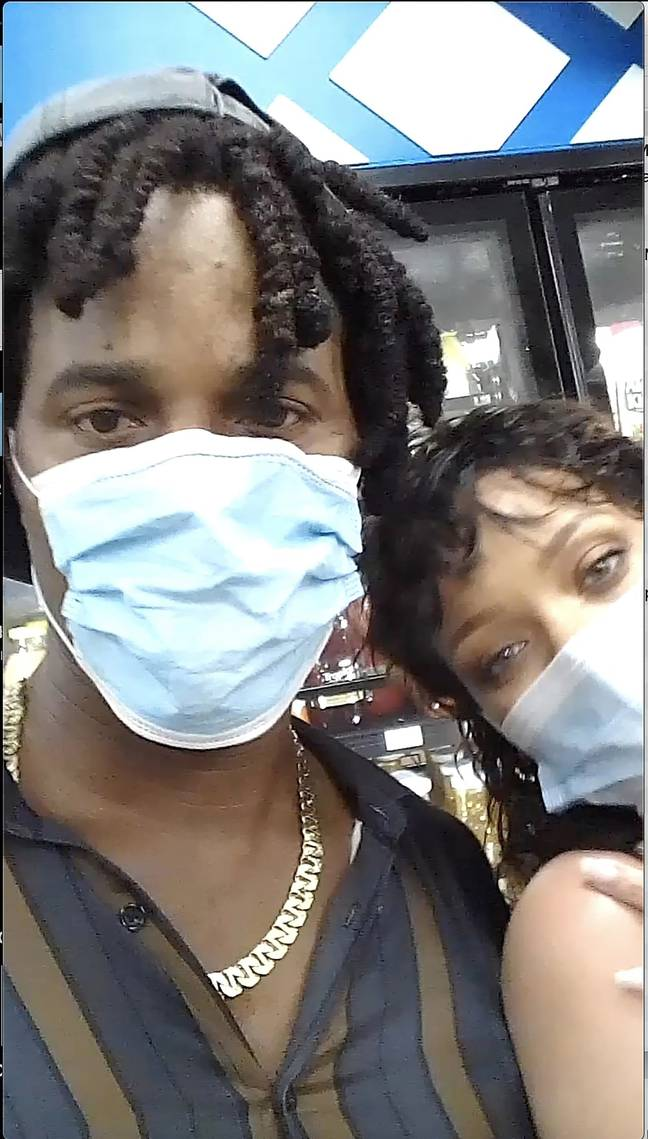 The lucky fan bumped into Rihanna in a petrol station in Barbados. Credit: Backgrid