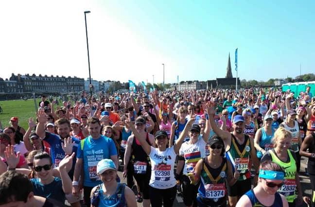 London Marathon. Credit: PA