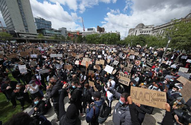 Piccadilly Gardens in Manchester. Credit: PA