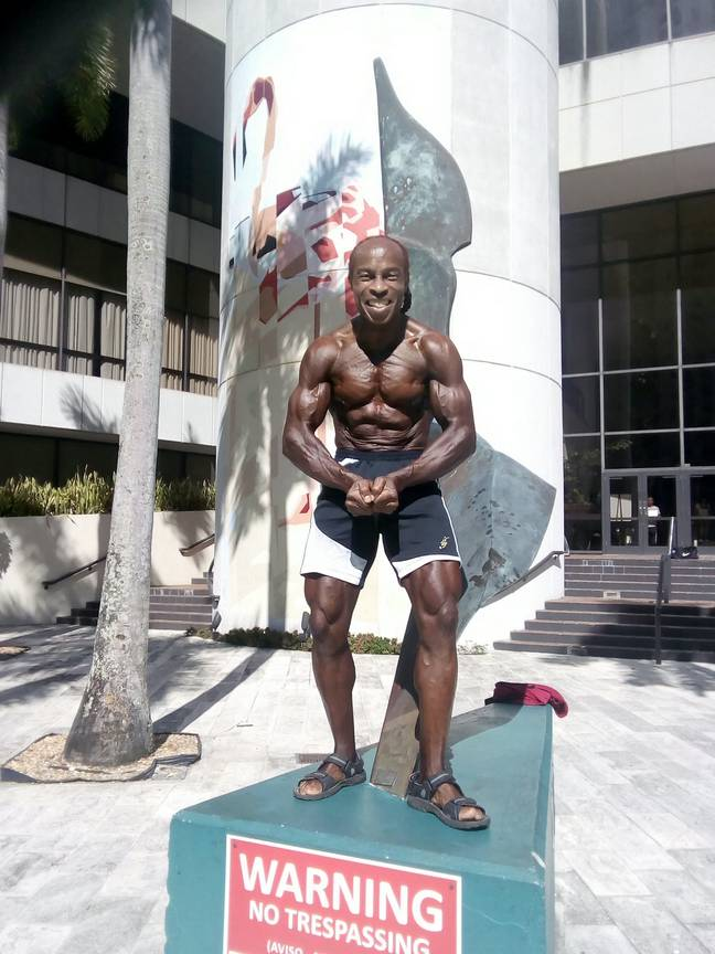 Mr Wilson went on to be crowned the over 60s bodybuilding world champion. Credit: SWNS