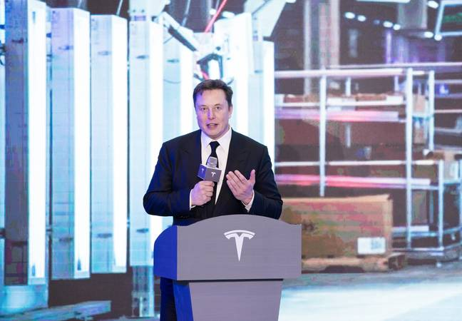 Musk's Tesla shares have risen dramatically this year. Credit: PA