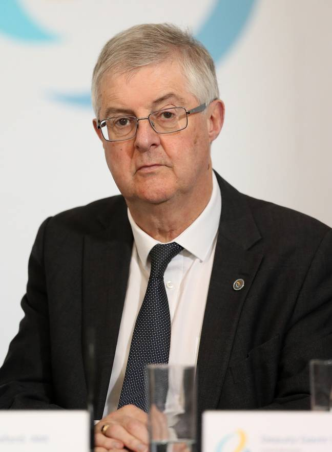 Wales First Minister Mark Drakeford has reduced the number of households that can meet from three to two. Credit: PA