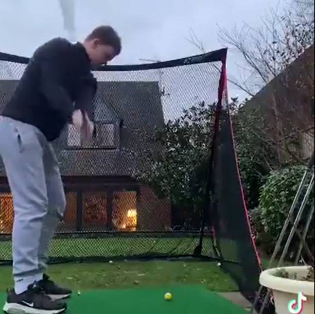 Rory captured mid-swing. Credit: CONTENTbible