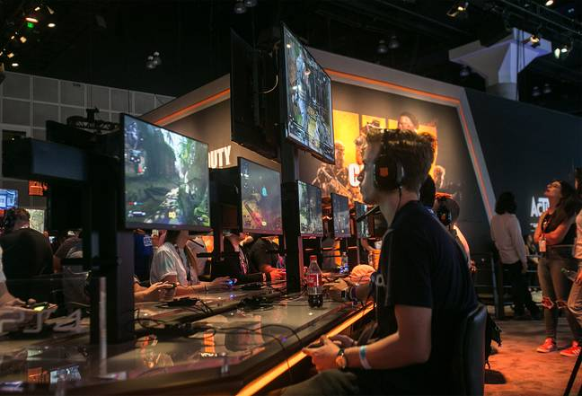 Shadow of the Tomb Raider at the Square Enix booth at the Electronic Entertainment Expo Credit: PA