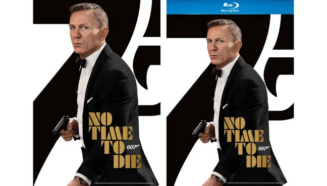 Jame Bond No Time To Die DVD and Blu Ray. (Credit: Amazon)