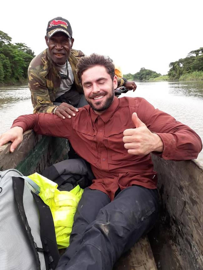 Efron is said to have been filming for his new adventure series when he was taken ill. Credit: Facebook/Cyril Tara