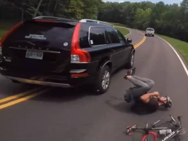 Cyclist knocked off bike