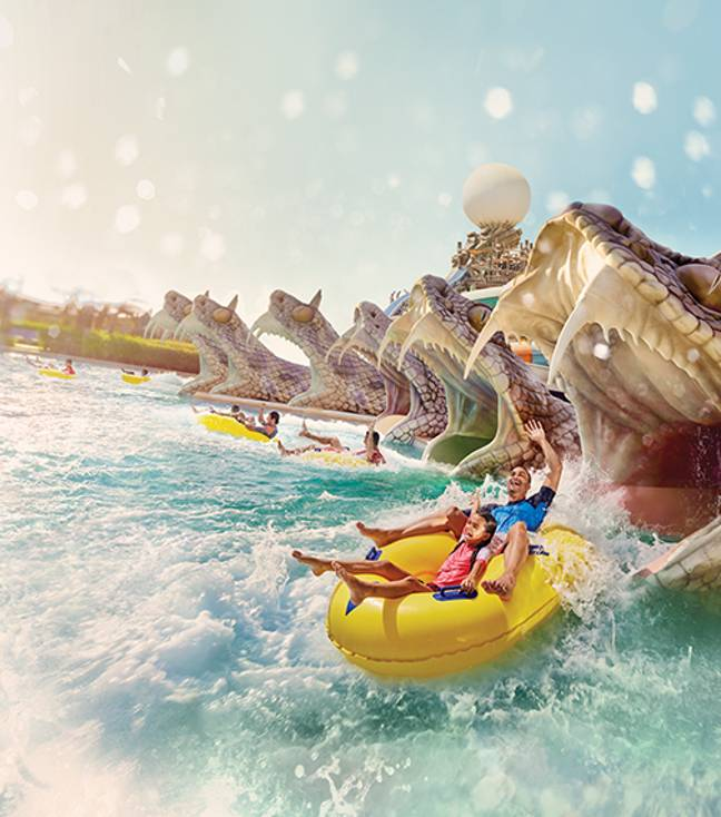 Slithers Slide at Yas Waterworld. Credit: Yas Waterworld