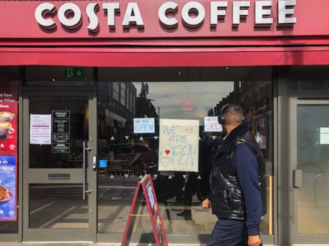 Costa has reopened 29 branches for drive-thru and delivery orders. Credit: PA